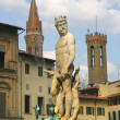 Stock Photo: Fountain of Neptune in Florence, Italy.