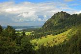 Hügeln und wiesen in deutschland. — Stockfoto