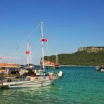 Bay with yachts on Mediterranean Sea inTurkey. — Stock Photo #5895948