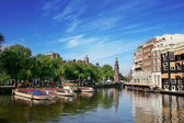 View on Amstel river in amsterdam. — Stock Photo