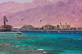 View on bay and coastline in Eilat, Israel. — Stock Photo