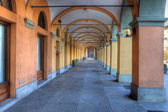 Old passage in Alba, Italy. — Stock Photo