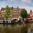 Amsterdam city panoramic view. — Stock Photo