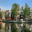 Amsterdam city panoramic view. - Stock Photo