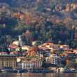 Fall time on Lake Como in Italy. — Stock Photo