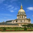 Stock Photo: Panoramic view on garden in Paris, France.