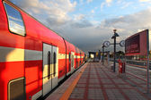 Train on the train station. — Stock Photo