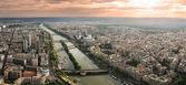 Aerial panoramic view of Paris. — Stockfoto