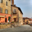 Old multicolored houses in Saluzzo, Italy. — Stock Photo #6024804