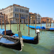 Gondolas on Grand Canal in Venice, Italy. — Stok fotoğraf