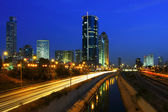 Natt syn på tel aviv. — Stockfoto