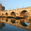 Saint Angel Castle and Bridge in Rome. — Stock Photo