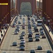 Traffic on Golden Gate Bridge in San Francisco, USA. - Stock Photo