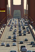 Traffic on Golden Gate Bridge in San Francisco, USA. — Stock Photo