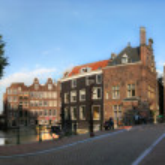 Amsterdam city panoramic view. — Stock Photo