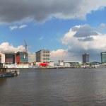 Panoramic view on Amsterdam. — Stock Photo