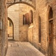 Stock Photo: Old street in Jerusalem, Israel.