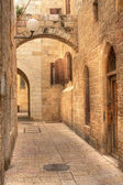 Old street in Jerusalem, Israel. — Stock Photo