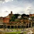 Panoramic view on ancient ruins in Rome, Italy. — Stock Photo
