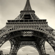 Vertical capture of Eiffel Tower. — Stock Photo