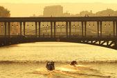 Bridge over Seine River in Paris. — Stock Photo