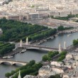 Aerial view on Paris from Eiffel Tower. — Stock Photo #6420584