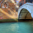 Royalty-Free Stock Photo: Small bridge over canal in Venice.