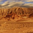 Panoramic view on Arava desert. — Stock Photo