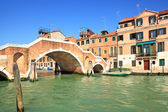 Canal and small bridge in Venice, Italy. — Stock Photo