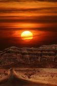 Sunset in desert. — Stock Photo