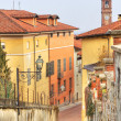 Old houses in Saluzzo, Italy. — Stockfoto