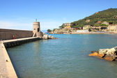 Recco - touristic resort in Italy. — Stock Photo