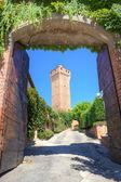 Ancient tower in Santa Vittoria D'Alba, Italy. — Stock Photo