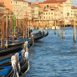 Gondolas on Grand Canal in Venice, Italy. — Stock Photo