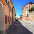 Houses and old church in Roddi, Italy. — Stock Photo #6686920