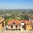 Houses over hills of Piedmont, Italy. — Stock Photo #6687067