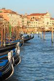 Gondolas on Grand Canal in Venice, Italy. — Stock Photo