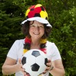 Female soccer Fan — Stockfoto