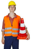 High visibility vest — Stock Photo