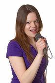 唱歌 — 图库照片
