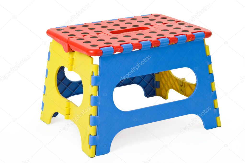 Folding stool isolated on white background — Stock Photo #5912559