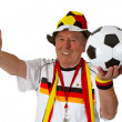 Stock Photo: Senior soccer fan
