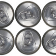 Top Down View of a Six Can Pack — Stock Photo