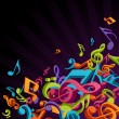 colorful music notes vector background — Stock Vector