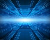 Virtuele tecnology ruimte vector achtergrond — Stockvector