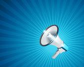Sfondo vettoriale megafono — Vettoriale Stock