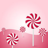 Lollipop vector background — Stock Vector