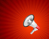 Megaphone vector background — Vector de stock