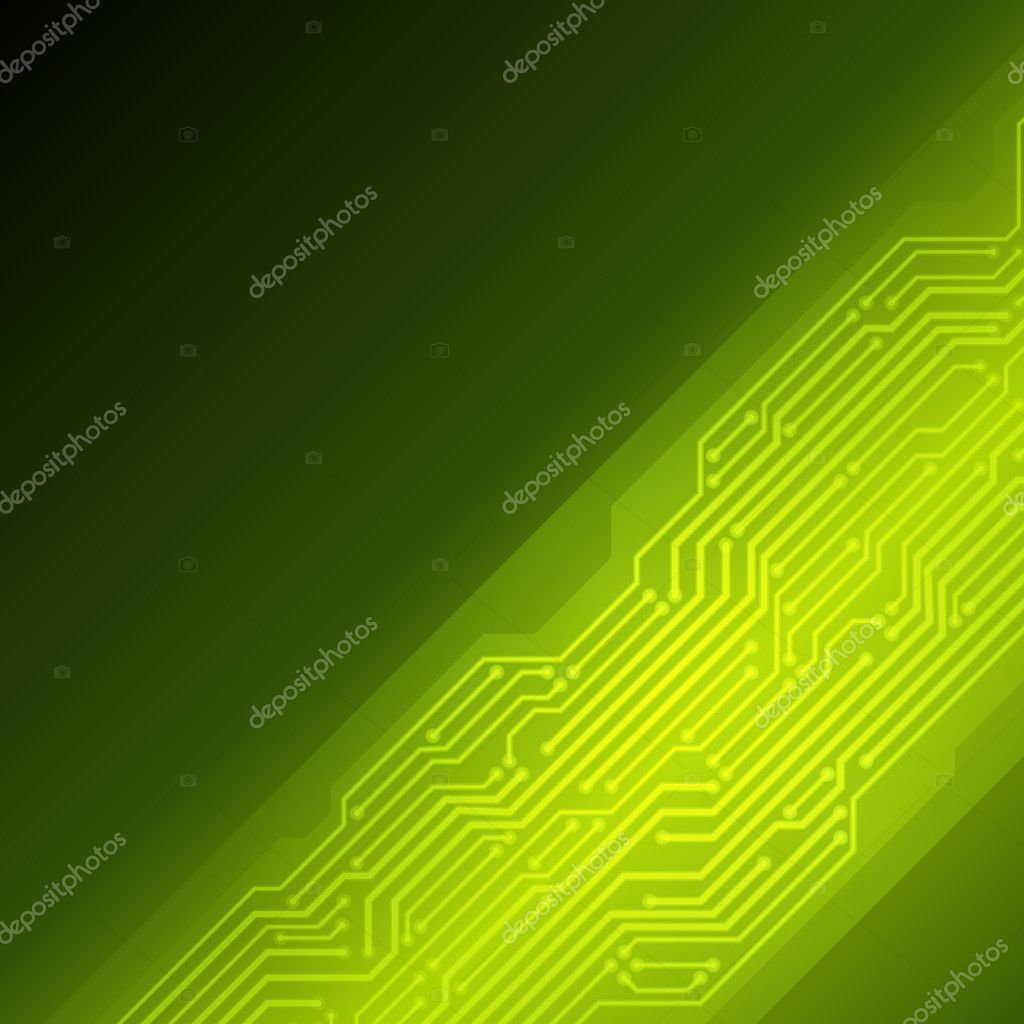 Abstract retro technology microchip vector background ...