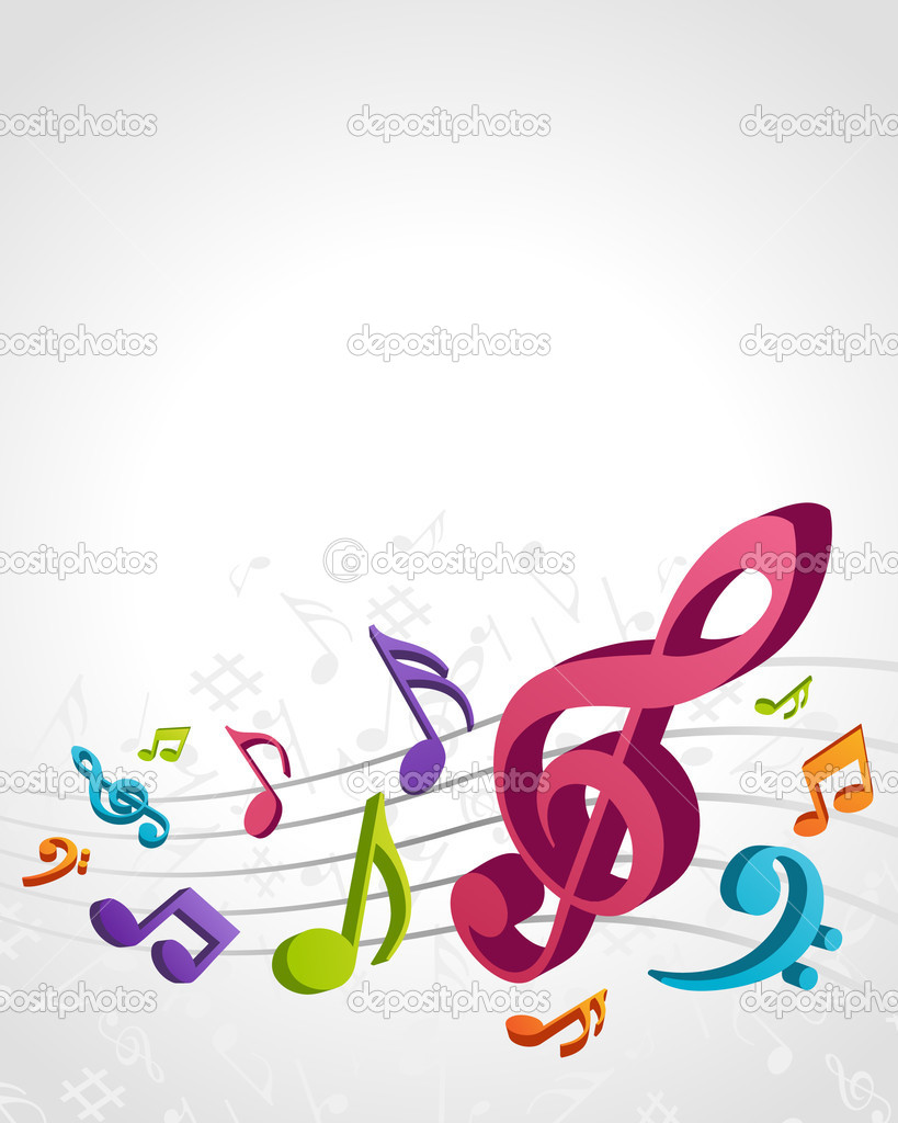 Colorful Musical Notes Pictures Colorful Music Notes Vector